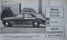 1956 Riley Pathfinder Original Autocar magazine Road test