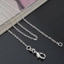 Wholesale 5PCS 925 Silver Filled 1MM Classic Chain Necklace For Pendant Jewelry