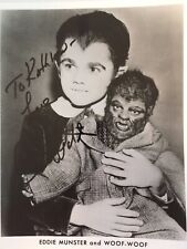 Butch Patrick / Eddie Munster Autograph  8 X 10 Black & White Photo
