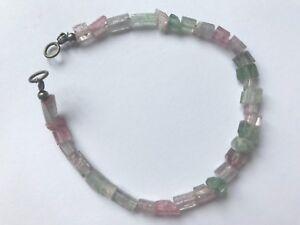 SALE stunning crystalized Afghan Tourmaline beads bracelet