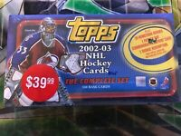 NHL 2002-03 TOPPS Factory Sealed Complete CARD SET | 1 BOX | RARE