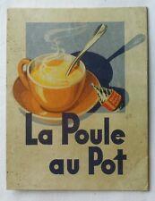Ancien carton publicitaire LA POULE AU POT - Bouillon KUB - Déco cuisine - MAGGI