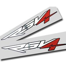 Aprilia RSV4 Motorcycle graphics stickers decals x 2 chrome,red,black Large size