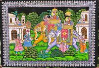 Éléphants Tenture ethnique Batik Paillettes Fait main Yoga Hippie Boho Inde R2