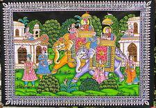 Éléphants Tenture ethnique Batik Paillettes Fait main Yoga Hippie Boho Inde T2