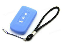 Blue Silicone Case Cover For Mitsubishi Outlander Lancer ASX Smart Key 3 Buttons