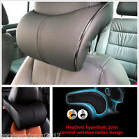 Cozy PU Leather & Memory Cotton  Car Seat Ergonomic Headrest Neck Cushion Pillow