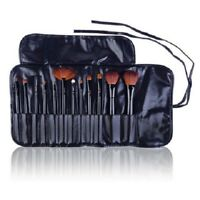 SHANY Professional 12-piece Cosmetic Brush Set with Pouch Black