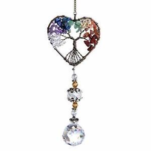 Glass Suncatcher Crystal Pendant Rainbow Maker Colorful Heart