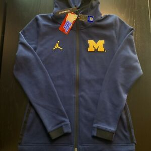 Air Jordan Showtime Michigan Wolverines Full Zip Hoodie Sweatshirt Size Medium