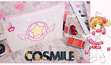 Card Captor Sakura Kinomoto Pink Magic Translucent Makeup Bag Cosmetic Bag  Sa