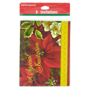 """Hallmark Party Express Christmas """"A Special Invitation"""" 32 PACK"""