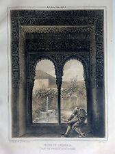 GRANADA, LINDARAJA,Lit. original de Parcerisa 1839-1865