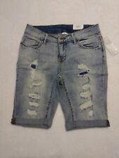 Time And Teu Womens Size 6 Long Length Shorts Above Knee Cuffed Distressed...