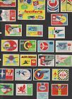 Old+Lot+of+Matchbox+Labels+Airlines+Aviation+Companies+%2F+50+pieces
