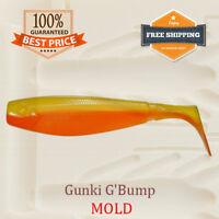 Gunki G'Bump Shad Fishing Mold Lure Bait Soft Plastic 75 mm