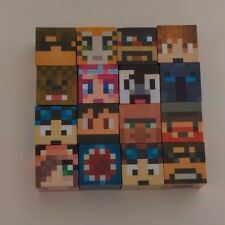 Minecraft YouTube joueurs 16 PC Delux Block Set Grand Stocking Filler