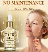 24K Gold Foil Essence Oil Face Lift Whitening Moisturizing Anti-Aging Serum SR4q