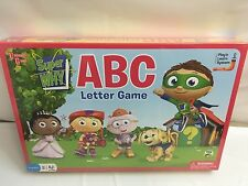 NEW LETTER GAME SUPER WHY BOARD GAME PRESCHOOL PLAY LEARN SYSTEM 2 TO 4 PLAYERS