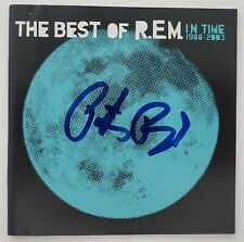 Peter Buck Signed R.E.M. Best Of In Time CD Booklet Guitarist LEGEND RAD