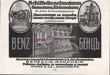Mannheim, Pubblicità 1916, volo-piccolo-nave-motori Benz & Cie. navi DIESEL