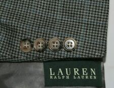 RALPH LAUREN 50R Silk & Wool Houndstooth 2B Single Vent Sport Coat