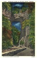 Moonlight Scene of Natural Bridge, Norfolk & Western Railway Virginia Postcard