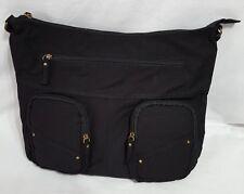 """New Ladies Target Black Hobo Style Bag Outside Pockets 7"""" Shoulder Drop Handbag"""