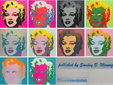 ☆ Andy Warhol ☆ MARILYN MONROE PORTAFOGLIO (10) ☆ Sunday B. Morning ☆ COA
