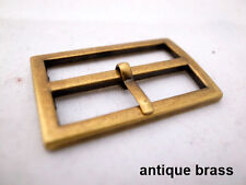 "《SISE》4 sets Replacement Belt Buckle  1 1/2""  antique brass"
