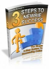 3 Steps to Newbie Success PDF eBook with Master Resell Rights