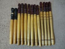 13 Rod Building Wrapping Vintage wooden handles with Aluminum reel seats