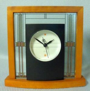 Bulova Frank Lloyd Wright Mid Century Modern Prairie Desk Clock