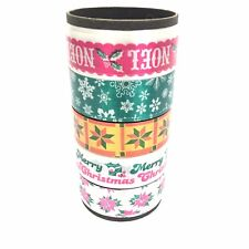 """Vintage Ribbon Bow Tie Christmas Gift Curl Wrap 1"""" Printed Roll 5 styles"""