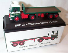 EDDIE STOBART ERF LV PLATFORM TRAILER LYNDA 1:76 New Boxed