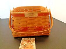 Longaberger 2000 Deck The Halls Basket Natural/ Red  #17639