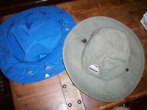 quicksilver bucket hat Safari Kids sun protection zone Blue Hat Lot 2 pc One sz