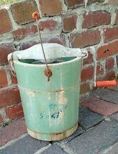 Vintage Ice Cream Freezer Maker 2 Quart Hand Crank Green Wood