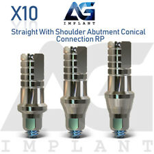 10 Straight Shoulder Abutment Conical Connection RP Titanium For Dental Implant