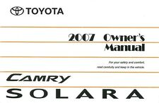 2007 Toyota Camry Solara Owners Manual User Guide Reference Operator Book Fuses