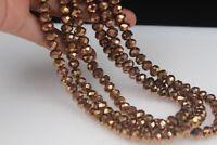 70  PCS ,  6X8 mm Mineral Gold Crystal Quartz Gemstone Abacus Loose Beads