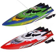 Remote Control Boats Twin Motor High Speed RC Racing Outdoor Toys with Radio UK