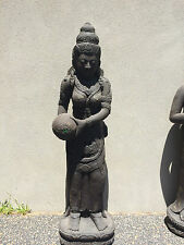 Balinese Cast Concrete Dewi Water Feature Statue Home and Garden Decor 1.2m