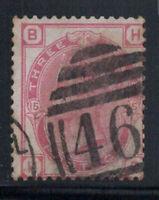 Großbritannien 1873 Mi. 41 Gestempelt 40% Königin Victoria, 3 Pence, B, H.