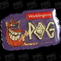 POGS 1994 Waddingtons POGMAN PIN BADGE Sealed SUPER ULTRA RARE VISIT POG SHOP