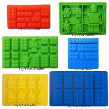 Lego-like Brick & Minifigure Man Silicone Mold Mould for Chocolate Cake Ice Cube