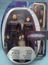 Star Trek: Nemesis NF Exclusive William Riker & Deanna Troi Action Figures 2-Pac
