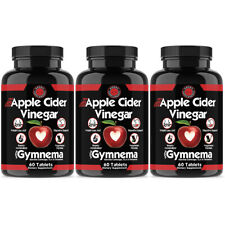 Apple Cider Vinegar Pills, ACV Weight Loss,100% Natural Fast Fat Burner 3 Pack