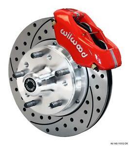 "Wilwood 82-92 Camaro Firebird Front Disc Brake 11"" Drilled Rotor Red Caliper"