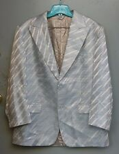 Gianni Versace Couture Vintage Mens Blue Zebra Striped Blazer Jacket 1990's 52EL